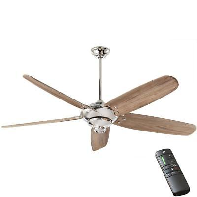 """Home Decorators Collection Altura DC 68"""" Polished Nickel Ceiling Fan w/Remote"""