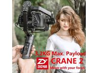 Zhiyun Crane 2 Stabiliser 3 Axis Handheld Gimbal for All DSLR SONY CANON NIKON
