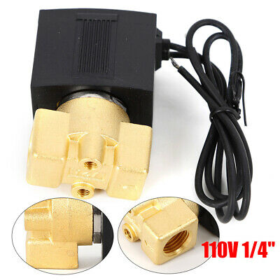 14 Inch 110v-120v Ac Brass Electric Solenoid Valve Air Gas Water Oil Nc Us