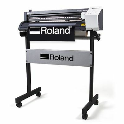 Roland Camm-1 Gs 24 Vinyl Cutter Plotter For Decals Heat Transfer Press Kit