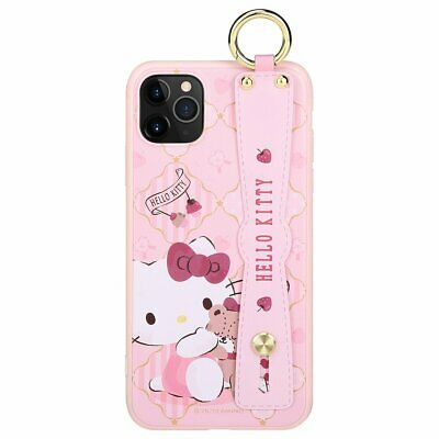 Sanrio Genuine Hello Kitty hand strap Ring Case Cover Apple iPhone 11 Pro MAX S