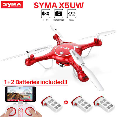 Syma X5UW 2.4Ghz 4CH 6-Axis Gyro RC Quadcopter Drone with HD WIFI Camera FPV UAV