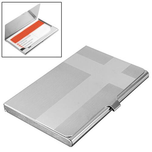 Pocket Stainless Steel /& Metal Business Card Holder Case ID Wallet Silverve z*