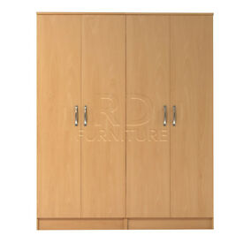 Hampton 4 door wardrobe beech effect