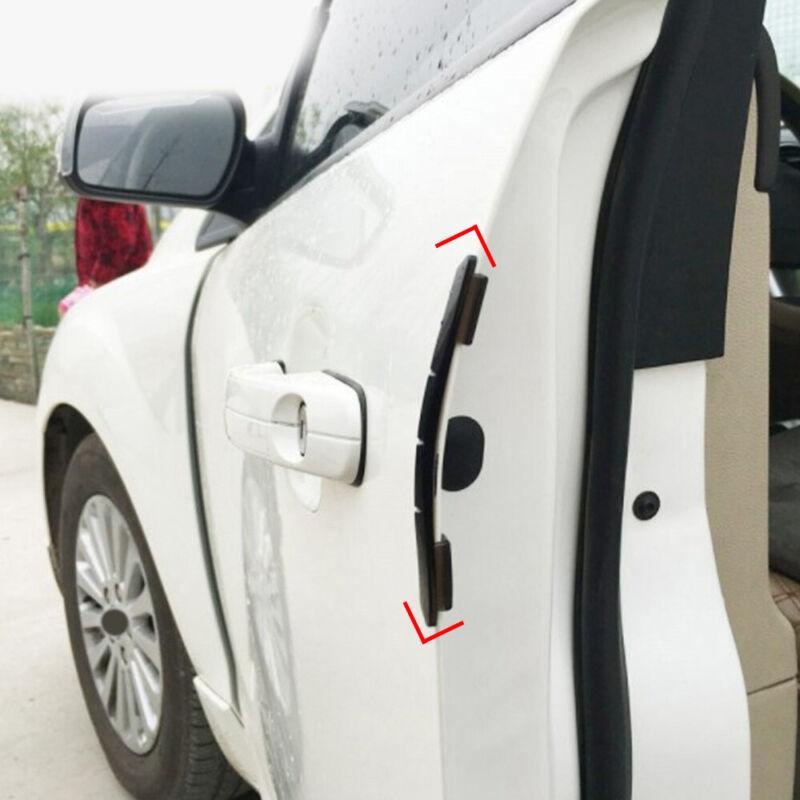 Black Universal 4Pcs Car Door Edge-Scratch Anti-collision Protector Guard Strip