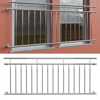 Balkongeländer Fenstergitter Französischer Balkon Edelstahl Stabgeländer 225x90