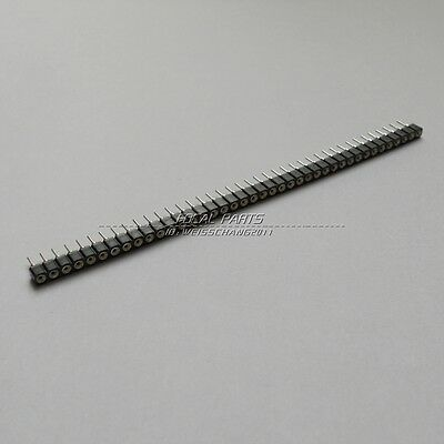 10pcs New 1x40 Pin Single Row 2.54mm Round Female Header Us Stock M114