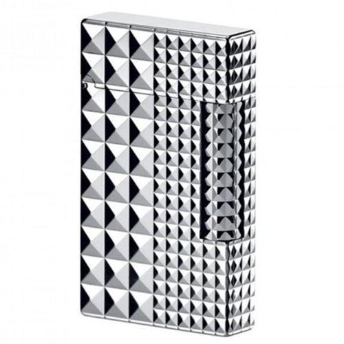S.T. Dupont Ligne 2 Lighter, Palladium Diamond Head, 16066 (016066), New In Box