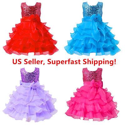 Sequined Ball (Sequined Flower Girls Tutu Ball Gown Sleeveless Dress )