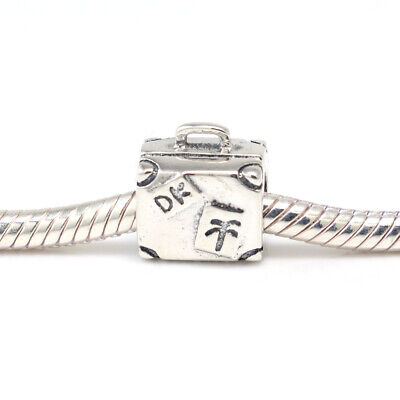 New Authentic Pandora Charms Sterling Silver Suitcase Bracelet Bead Charm