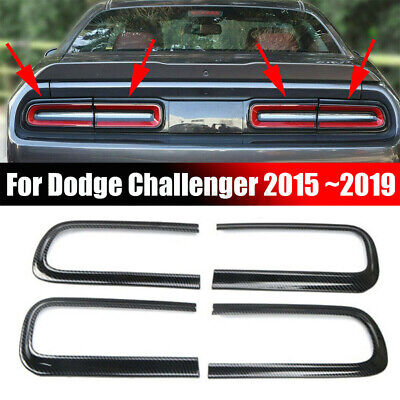 Carbon Fiber Taillight Cover Trim Accessories Fit For Dodge Challenger 2015+
