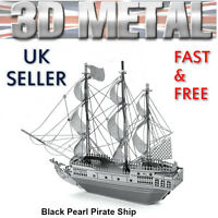 3d Metal Black Pearl Pirate Ship Boat Puzzle Miniature Model Gift For Dad Him - 3d metal model - ebay.co.uk