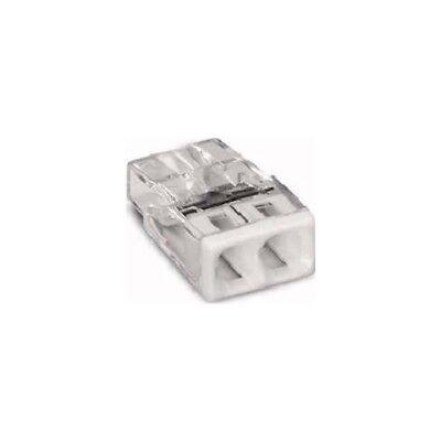 Wago 2273-202 COMPACT-Verbindungsdosenklemme 100 Stück transparent/weiß