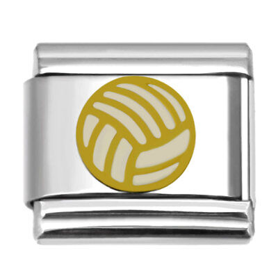 Volleyball Italian Charm 9mm Stainless Steel Bracelet Sports Theme Link](Volleyball Charm Bracelet)