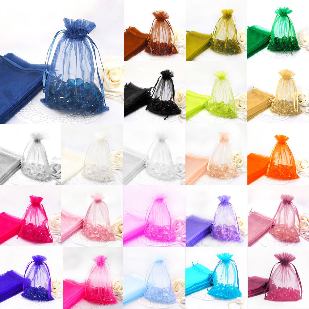 Jewellery - Premium Organza Gift Bags Jewellery Pouches XMAS Wedding Party Candy Favour
