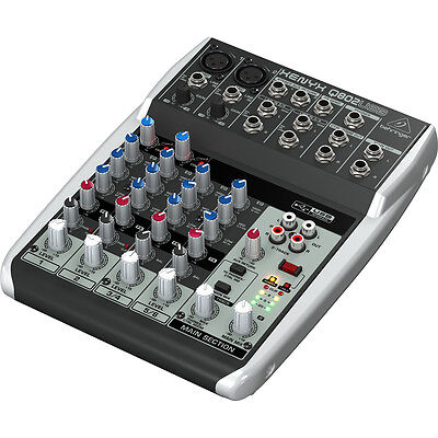 Behringer Xenyx Q802USB 8-Input 2-Bus Audio Mixer with Phantom Power on Rummage
