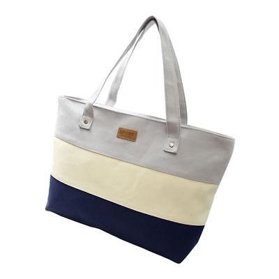 Women Canvas Handbag Summer Beach Shoulder Bag Messenger Tote Handbag Purse Gray