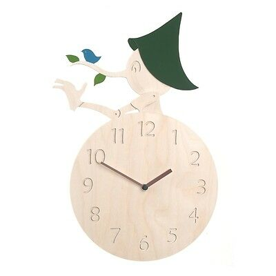 Pinocchio Wooden Wall Clock Modern Creative Art Design Home Decor Interior Gift