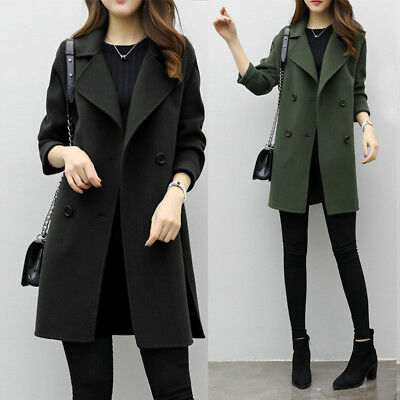 Women Autumn Winter Jacket Casual Outwear Parka Cardigan Slim Overcoat Coat Tops