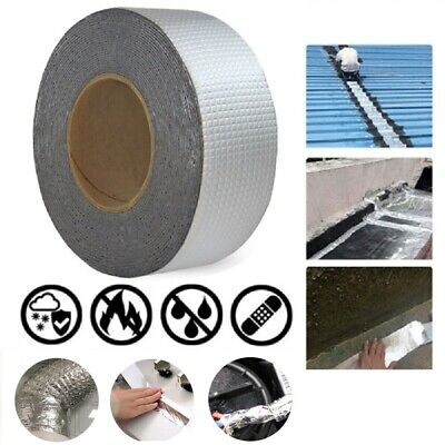 Thicken Waterproof Aluminum Foil Self Adhesive Tape Duct Tape Pipe Sticker