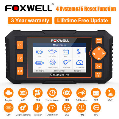 FOXWELL NT634Pro Auto Car Diagnostic Tool OBD2 Scanner ABS Airbag Oil Reset TPMS