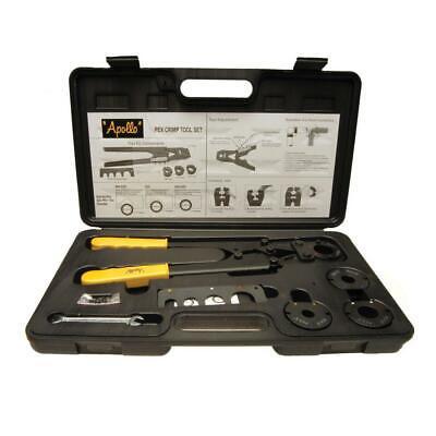 Apollo Multi-head Pex Crimp Tool Kit Pipe Rings Tubing Crimper Plumbing Crimping