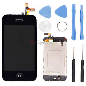 OEM LCD Touch Screen Digitizer Glass Assembly Replacement for iPhone 3G Black