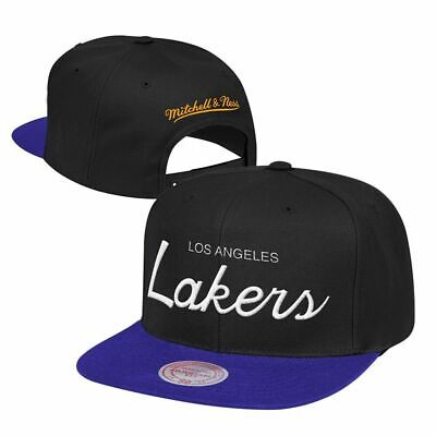 more photos f9f38 d57c6 Los Angeles Lakers Mitchell   Ness NBA Classic Script Adjustable Snapback  Hat