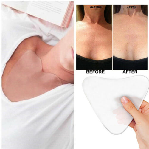 Silicone Anti Wrinkle Eliminate Chest Pads Reusable Overnight Improve Sleep SH