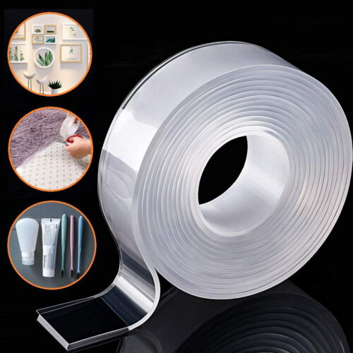 Magic Double-sided Tape Traceless Washable Adhesive Tape Invisible Gel Tape Adhesives & Tape