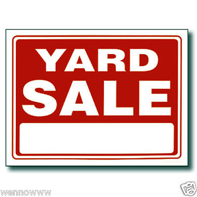 "5 Pcs 9 x 12 Inch Red & White Flexible Plastic "" Yard Sale """