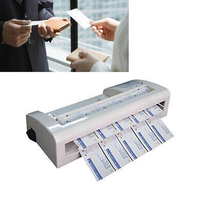 Usa 110v Automatic Electric A4 Paper Business Card 90x 54mm Cutting Machine