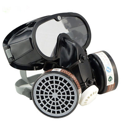 Respirator Gas Mask Anti-dust Filter Paint Goggle Set Industrial Chemical Safety