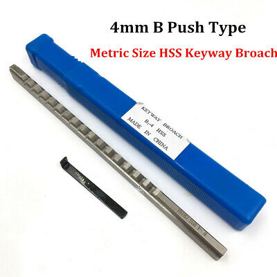 4mm B Push Type Keyway Broach Cutter Involute Spline Cnc Machine Cutting Tool