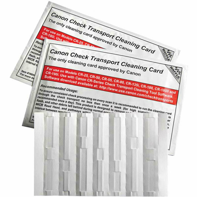 Canon Check Transport Cleaning Card with Waffletechnology