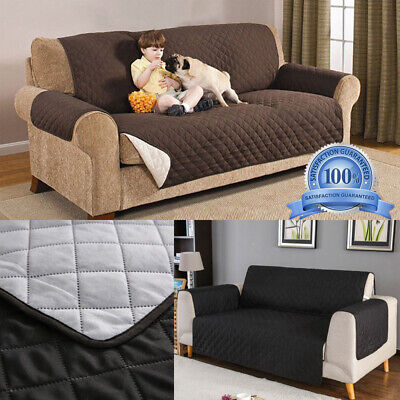 Quilted Sofa Couch Covers Armchair Recliner Sofa Slipcovers For Dogs Pet Cats AS ()