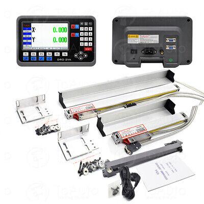 Lcd Dro Digital Readout 2axis W 5m Ttl Linear Scale 501000mm Cnc Mill Edm Kit