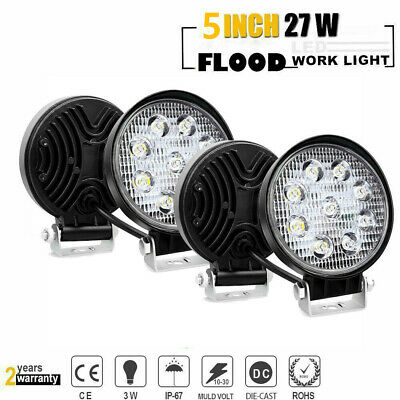 4p Pods LED Work Light SPOT Lights For Truck Off Road Tractor 12V 24V Round