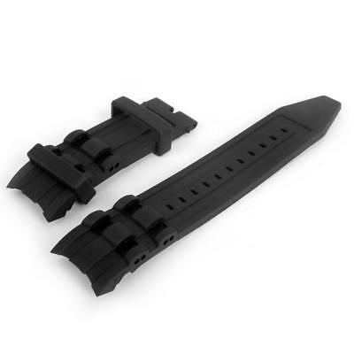 Black Rubber Watch Band Wrist Strap For Invicta Pro Diver Chronograph Collection - Invicta Band Wrist Watch