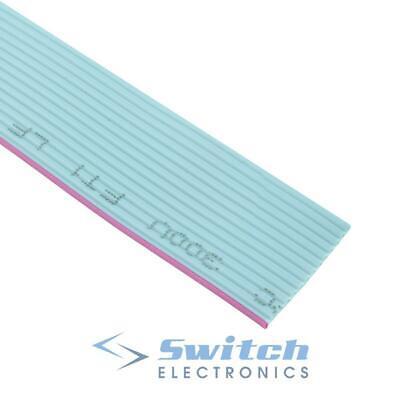 Grey Flat Ribbon Cable 1.27mm - 10 14 16 20 26 34 40 Way