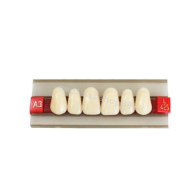 Fda G425 Anterior Acrylic Resin Denture Dental Upper Teeth Shade Wearable A2 A3