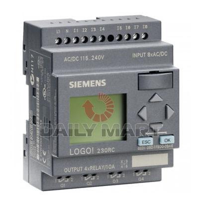 New Siemens Logo 230rc 6ed1 052-1fb00-0ba6 Lcd Logic Module 230v Free Shipping