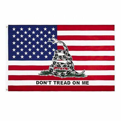 3×5 USA Flag Gadsden Dont Tread on Me  American Banner FAST SHIP Décor