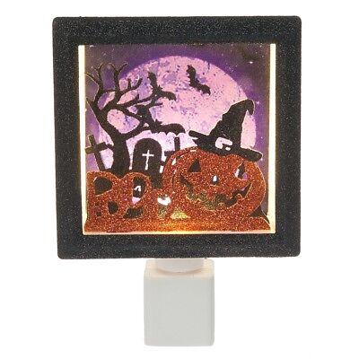 Halloween Pumpkin Jack O' Lantern Boo Shadow Box LED Night Light - Halloween Shadow Lantern