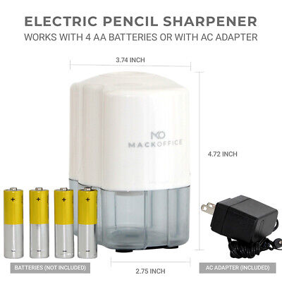 Mackoffice Electric Pencil Sharpener Heavy Duty Auto-stop Ultra-portable. For