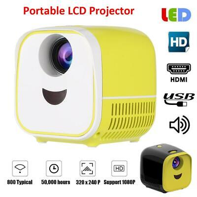 Mini LED Projector Beamer Home Theater Media Player 1080P USB HDMI Kids Gift
