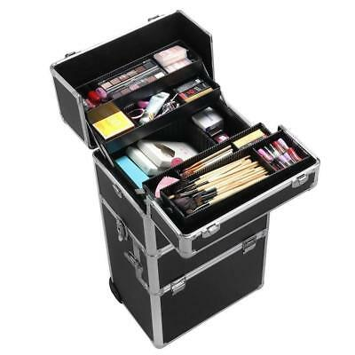 Portable Professional Makeup Cosmetic Organiser Beauty Case Trolley Storage Box
