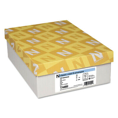 Neenah Paper 1744000 Classic Crest #10 Envelope (Solar White) (500/Box) New Envelopes Classic Crest Paper