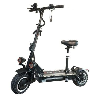 SUN 3600w/60v Two Wheel 11in. Folding Off Road Electric Scooter w Seat 45-55MPH
