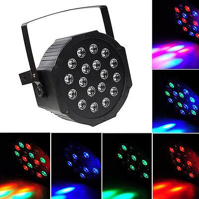 Par Can 18 RGB LED Stage Light Disco DJ Bar Effect UP Lighting Show DMX Strobe